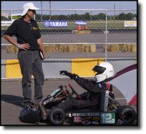 SRS Kart Racing Engines - John Sefcik & Adrian Carrio on the grid at the 2003 SKUSA ProMoto at Texas Motor Speedway